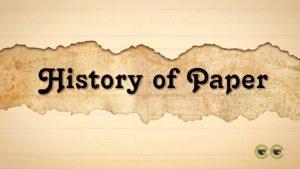 sejarah kertas kuno